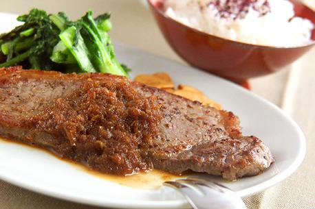 Recipe Beef Steak with Grated Daikon Radish
