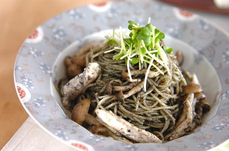 Recipe Black Sesame Seed Pasta