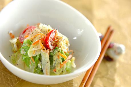 Recipe Boiled Vegetable Salad with Scallop Mayo Dressing