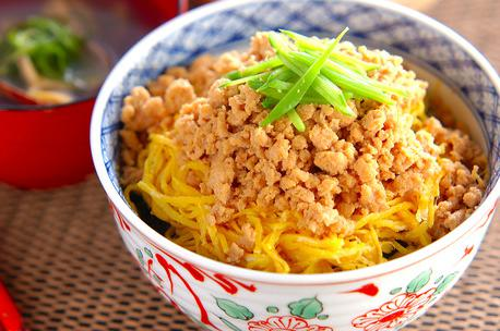 Recipe Minced Chicken and Egg Bowl