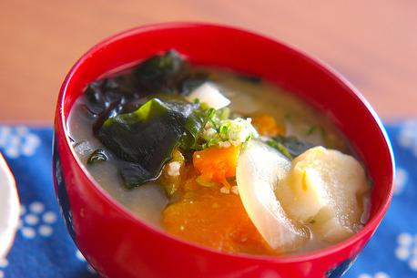 Recipe Miso Soup with Pumpkins