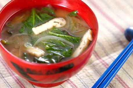 Recipe Miso Soup with Spinach
