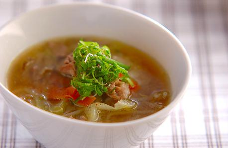 Recipe Pork Miso Soup with Lots of Vegetables