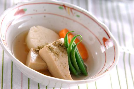 Recipe Simmered Freeze-Dried Tofu and Vegetables