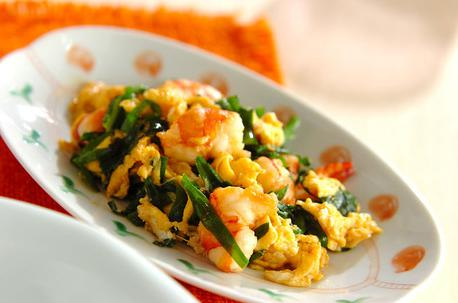 Recipe Stir-Fried Shrimps and Nira (Chinese Chives)