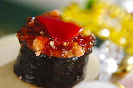 Recipe Sushi Roll Topped with Broth Jelly