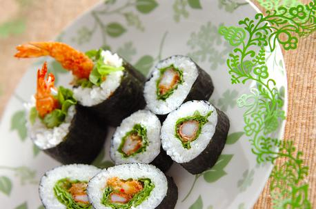 Recipe Sushi Rolls with Spicy Deep-fried Shrimps
