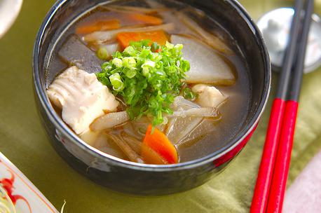 Recipe Tofu, Pork and Vegetable Soup, Kenchin-Style