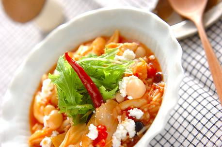 Recipe Tomato Risotto with Mushrooms and Chicken