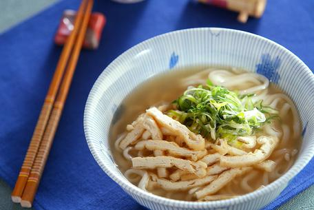 Recipe Udon Noodles with Deep-Fried Tofu Strips
