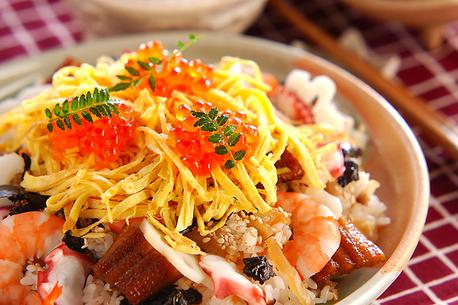 Recipe Vinegar Rice with Variety of Toppings